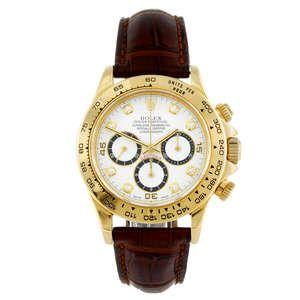 LOT:291 | ROLEX - a gentleman's 18ct yellow gold Oyster Perpetual Cosmograph Daytona wrist watch.