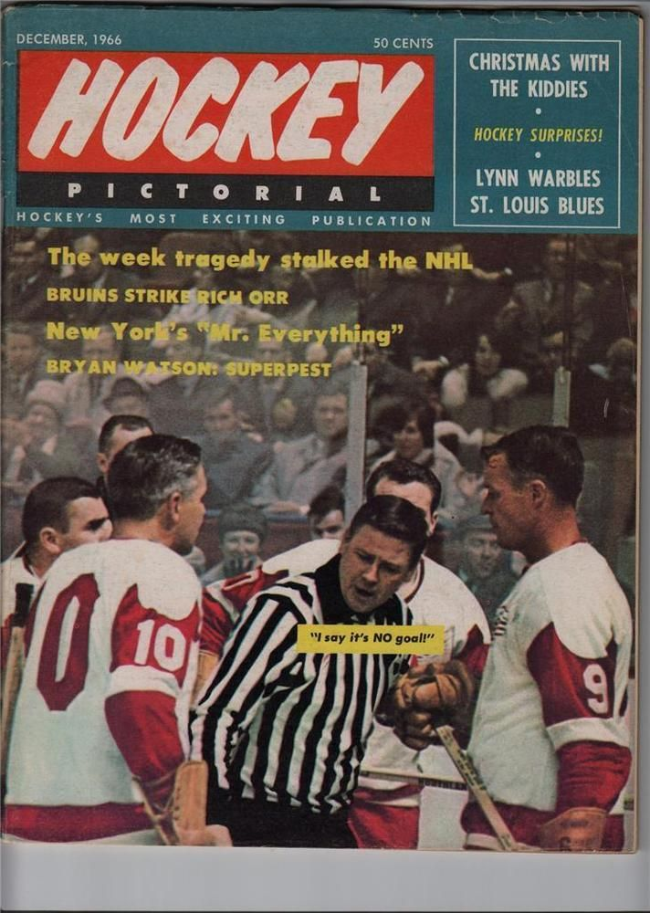 1966 HOCKEY PICTORIAL MAGAZINE GORDIE HOWE ON THE COVER DETROIT