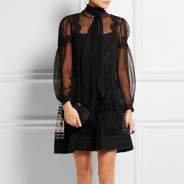 Natasha Sahashi's Style Blog What Makes You Happy ?!  : Lace and Transparency mini dress (International ve...