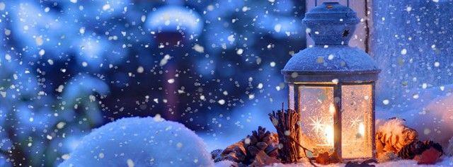 Snow winter lighting: The perfect Christmas feel.  #Facebook #Christmas #CoverPhotos