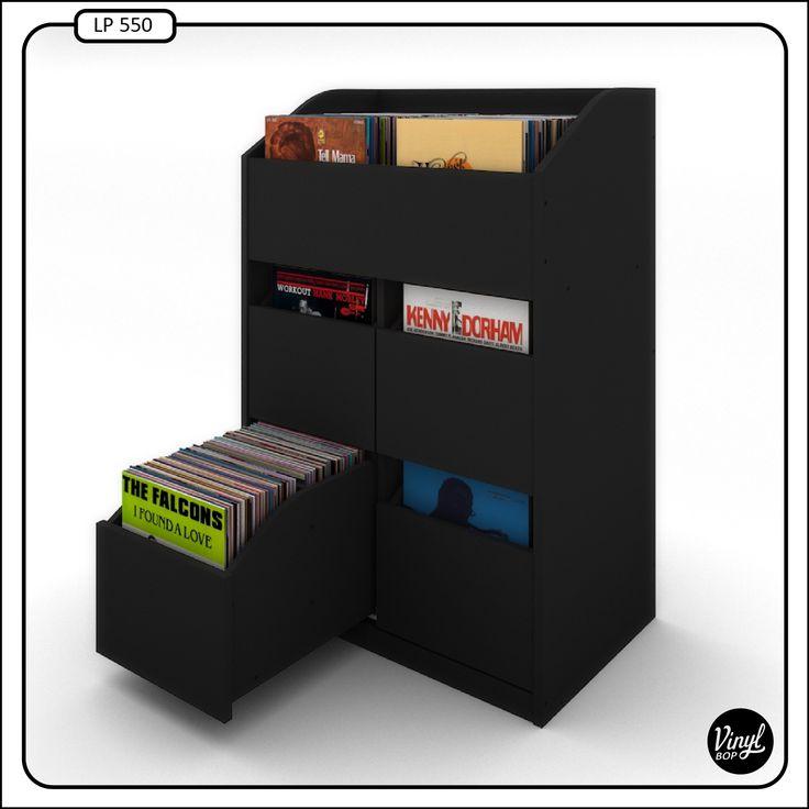 Mueble para discos de 12 capacidad de 550 discos - Mueble para vinilos ...