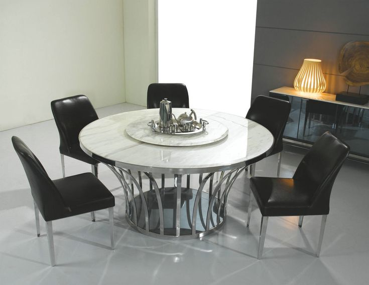 Marble Top Round Dining Table Set   A Table Set Is What People Use To Have  A Late Dinner With Friends Or Their Family Or The