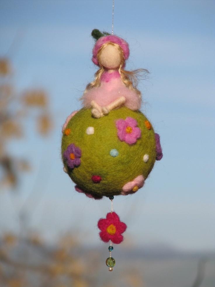Waldorf inspired needle felted spring fairy door Made4uByMagic
