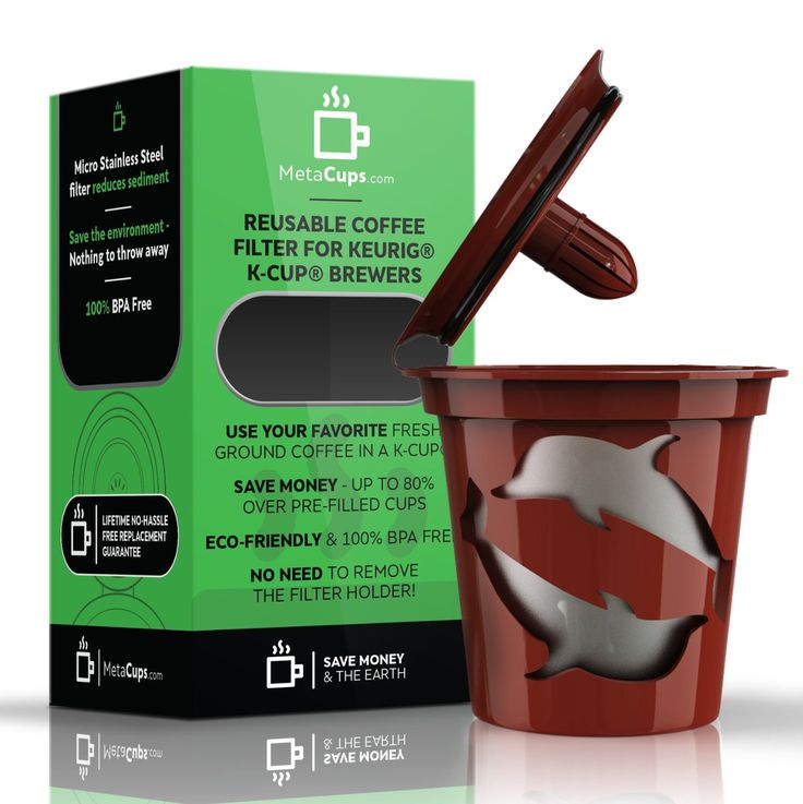 Amazon.com: Reusable K Cup Coffee Filter for Keurig Brewers - Use Your Own Coffee In A Refillable K-Cup + Receive Free Coffee + Lifetime Guarantee w/ Purchase: Kitchen & Dining
