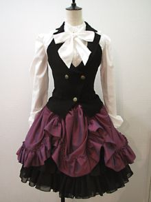 Black, make it all black, or maybe a red skirt. Either way it would look good, and I want