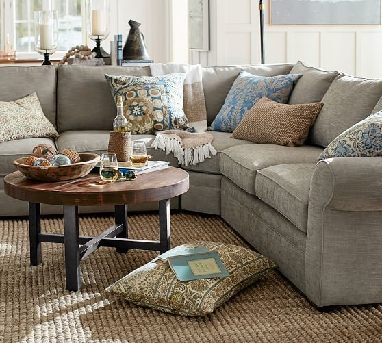 Pearce Upholstered Left Arm 3 Piece Wedge Sectional Down