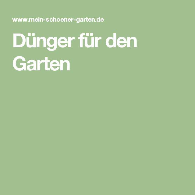 Dünger für den Garten