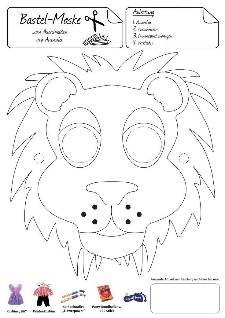 Löwen-Maske. Diese Maske macht Sie stolz, wie ein Löwe.
