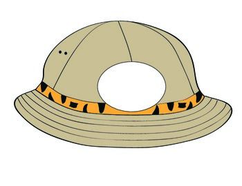 Safari Hat printable to use with bulletin boards, classroom activities, etc.   Just print, cut, and laminate.  Please rate this product and leave a comment.  Thank You!