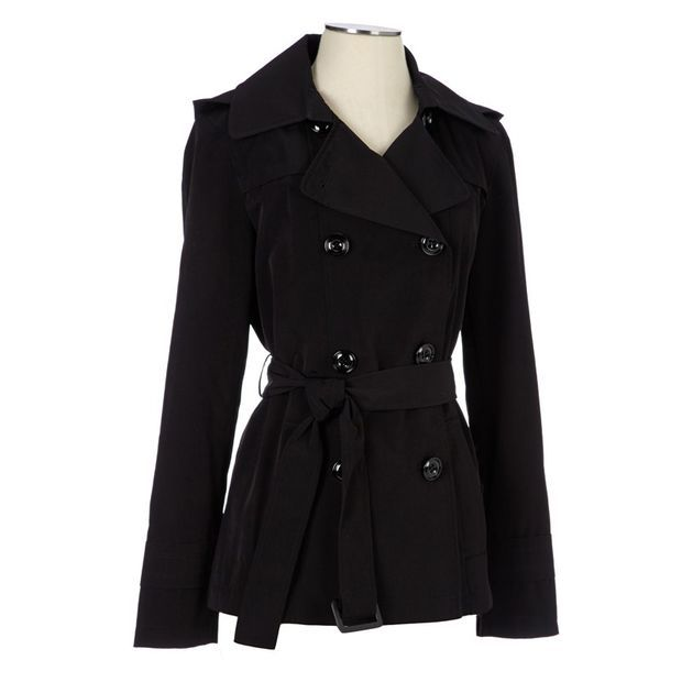 Short Belted Trench 116390445 | Anorak | Shop By Category | Women | Burlington Coat Factory