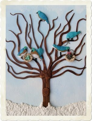 Bluebirds by Tammy Durham - Polymer Clay Illustrator/Artist