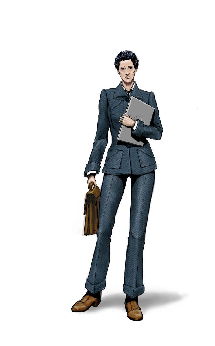 Diseño de personaje, boceto. Sofía. yo.robledoarte.com