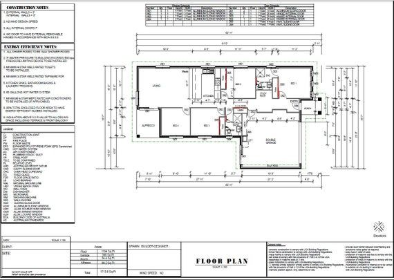159m2 Or 1713 Sq Foot 4 Bedroom Concept Blueprints For Sale