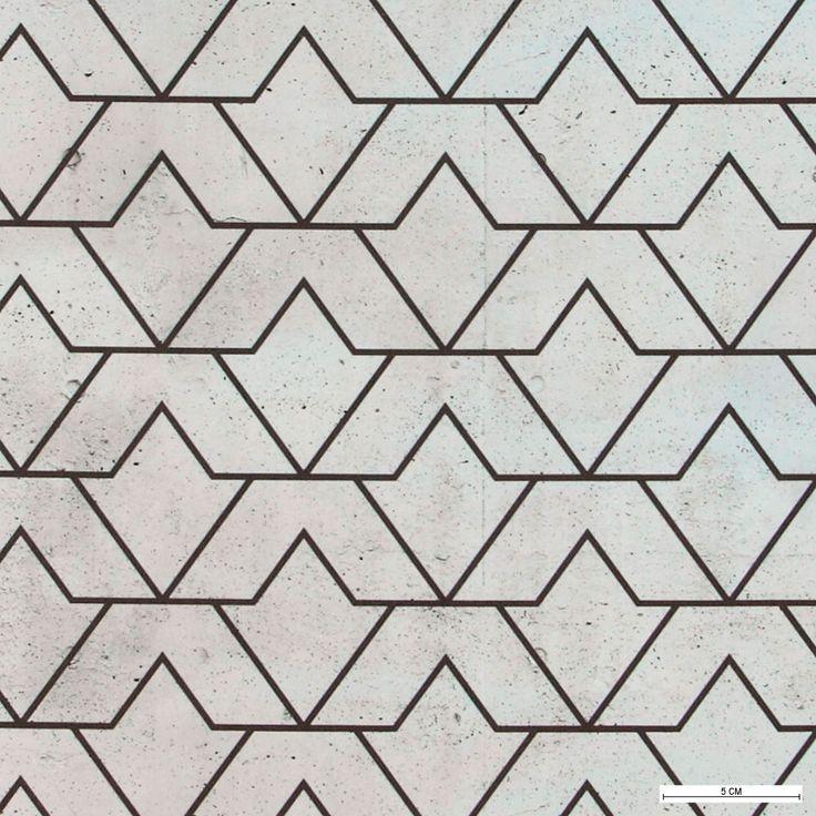 815897 Mikrofiber grå m beton/streg mønster