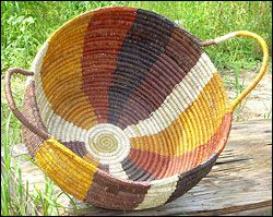 Beautiful baskets made by the Arnhem Weavers
