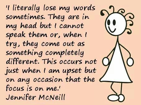 Losing my words - ADHD - seriously I would get in so much trouble growing up because my words would not come out correct :(
