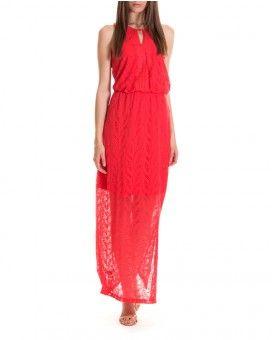 Μάξι πλεκτό φόρεμα