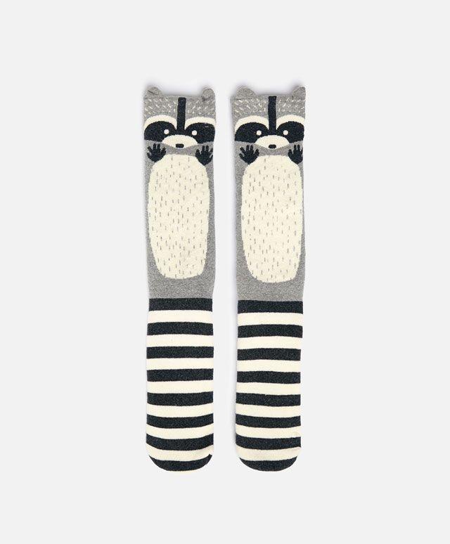 Long raccoon socks - OYSHO