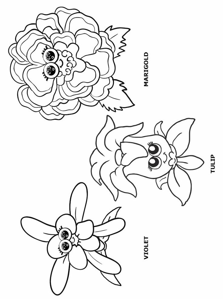 Girl Scout Flower Friends Coloring Pages