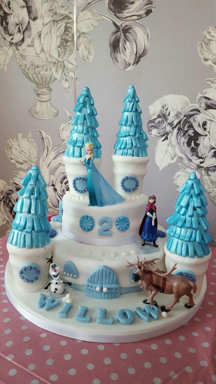 Frozen 2nd birthday cake