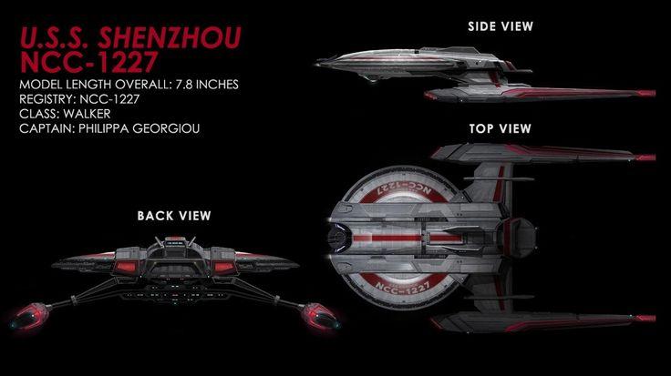 Star Trek Discovery starships models