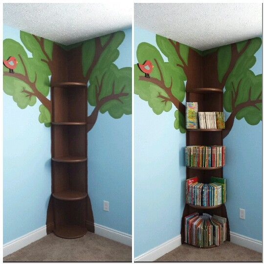 making a tree bookshelf corner - Google Search