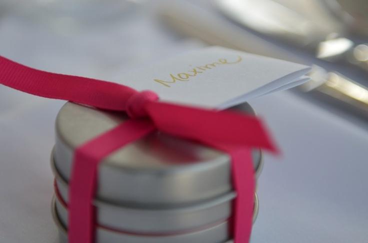 Un petit cadeau pour nos invités : Le thé de la mariée et le thé du marié