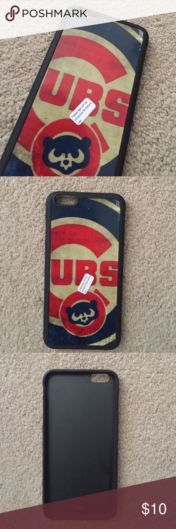 Chicago Cubs iPhone 6 Plus phone case Never been used Chicago Cubs iPhone 6Plus phone cover. Comes with a silicone stand. Other