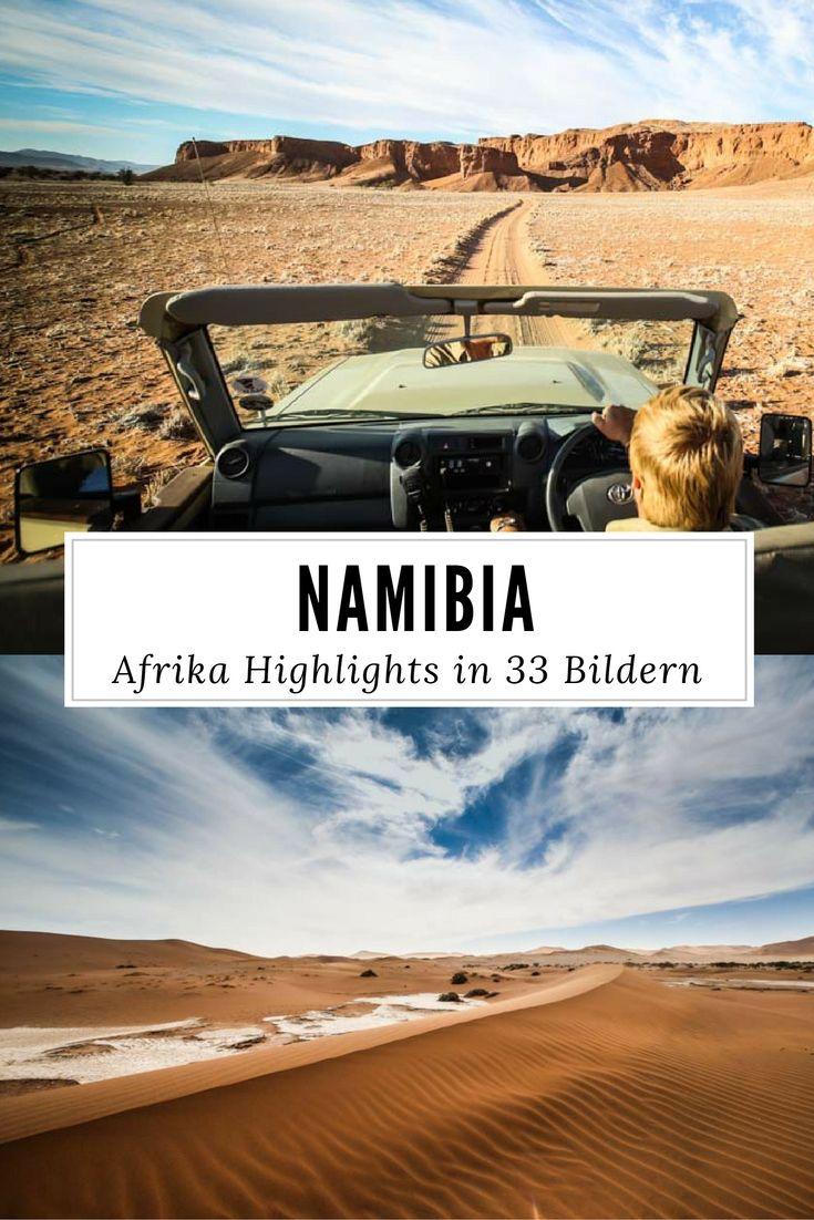 Afrika: Namibia Highlights in 33 Bildern. Lasst die Reise Fotos von Windhoek, Wüste, Tieren wie Zebras oder Giraffen, Safari Lodges und Essen auf euch wirken.