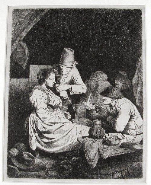Бега Корнелис Питерс (Bega, Begga, 1620-1664) - В трактире (1660-64, Частная коллекция)
