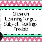 This freebie includes headings for your classroom learning target display for the following subjects: reading, math, grammar, spelling, language ar...