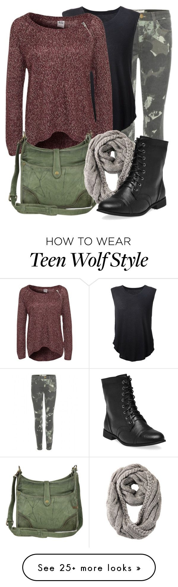 """Teen Wolf- Malia Tate"" by darcy-watson on Polyvore featuring Current/Elliott, Raquel Allegra, Vero Moda, Frye, RE ENVY, Wet Seal, TeenWolf and Malia"
