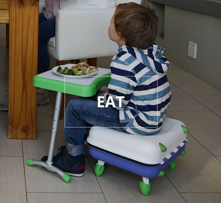 The TodPod is portable and can easily be set up almost anywhere to be used by your child to eat comfortably at their own table.