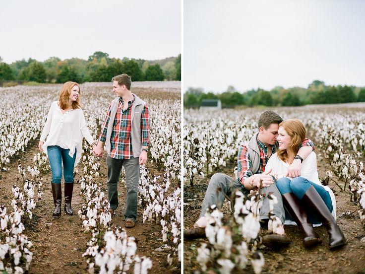 Jenna Henderson, Photographer: Nashville Film Engagement Photographer - Cotton Field Engagement Session