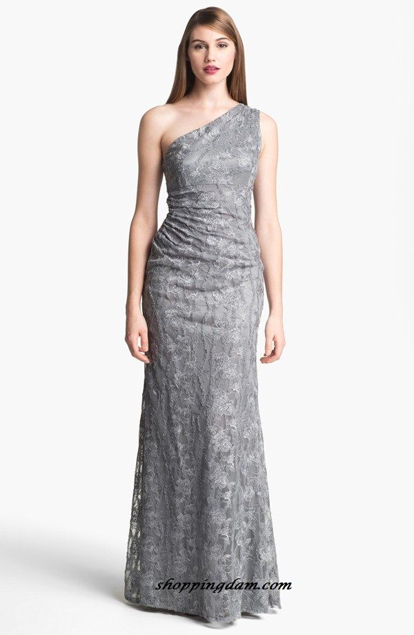 Silver lace dress 25th anniversary ideas pinterest for Silver wedding dresses 25th anniversary