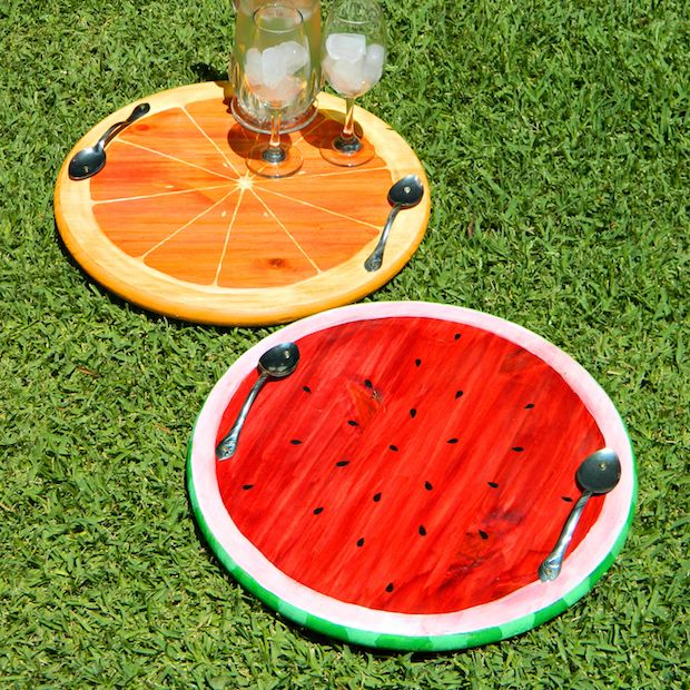 How-To: Summer Fruit Serving Trays [links to a video tutorial]