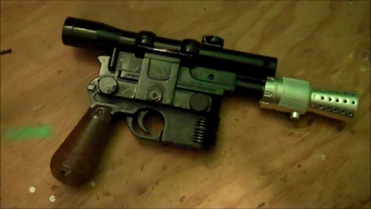 How to make a Han Solo Blaster DL 44 Look More Movie Authentic - Star Wars Costuming
