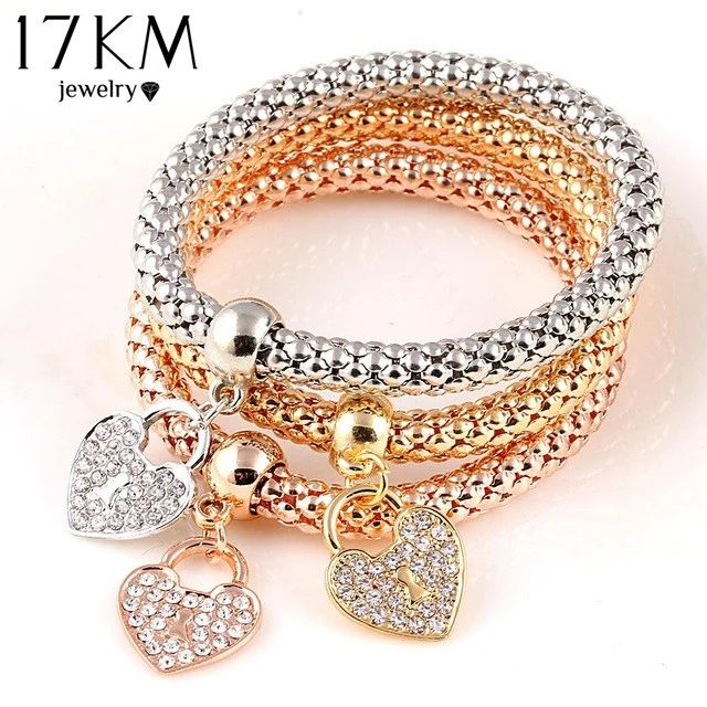 Cheap bracelets for, Buy Quality bracelets for women directly from China  elastic bracelet Suppliers: 2016 Gifts Gold Color Heart Charm Elastic  Bracelets For ...