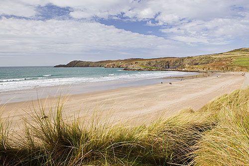 Whitesands Beach, St Davids, Pembrokeshire - Surfs up!