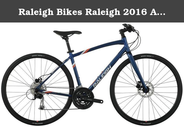"""Raleigh Bikes Raleigh 2016 Alysa 4 Women's Urban Fitness Bike, 15"""" Frame, Blue, 15"""" / Small. Whether you're ready for a workout or want to take a quick ride to coffee shop instead of drive, you can't ask for much more than pedaling proud on the alyssa 4. At the top of the alyssa line, the alyssa 4 offers Shimano Acera rapidfire plus Shifters and Tektro auriga hydraulic disc brakes. The alyssa 4 is an urban road bike with comfortable flat bars that is at home on the pavement but doesn't…"""