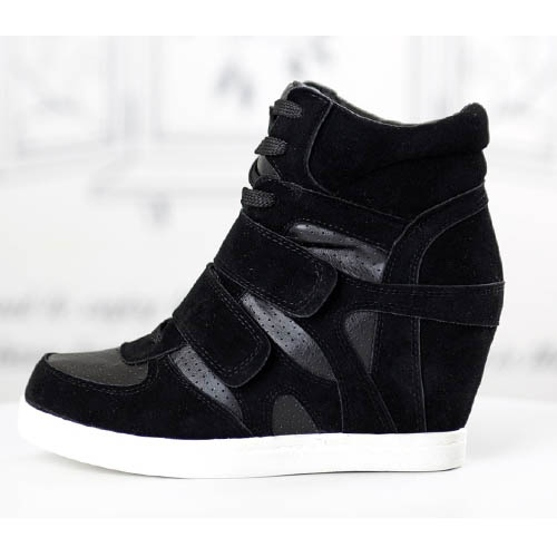basket femme montante noire compensees lacets high top sneakers fashion mode 2012 2013 ref19.jpg