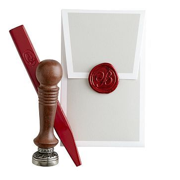 I love the Initial Wax Seal with Red Wax on markandgraham.com