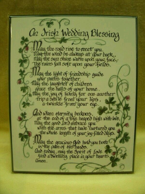 1000 Ideas About Irish Wedding Blessing On Pinterest