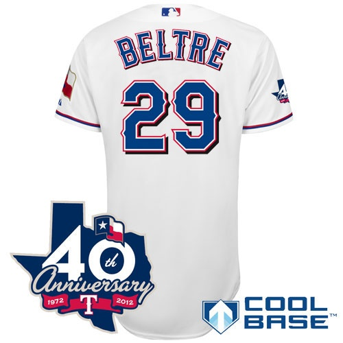... Texas Rangers Authentic 2012 Adrian Beltre Home Cool Base Jersey w 40th  Anniversary Patch