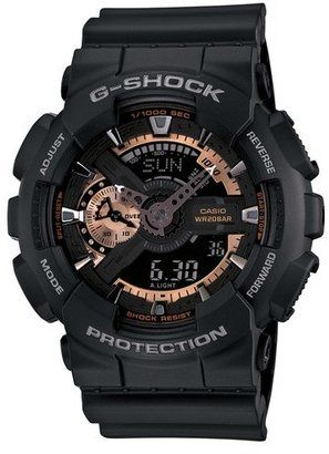 G-Shock 'X-Large' Rose Gold Dial Watch 55mm #watches #womens