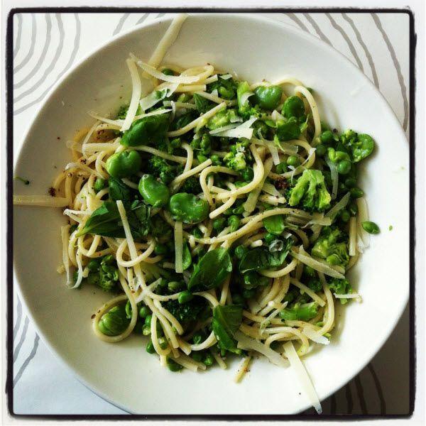 Wat te doen met tuinbonen? Pasta met broccoli, tuinbonen en erwten - Recept - Tuinboon.nl