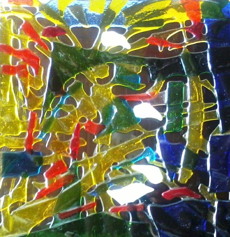 Vitrofusión vidrio retal bandeja. ablvitrales@gmail.com