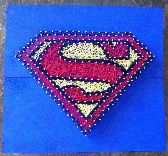 Superman String Art by NailedItDesign on Etsy, $49.00