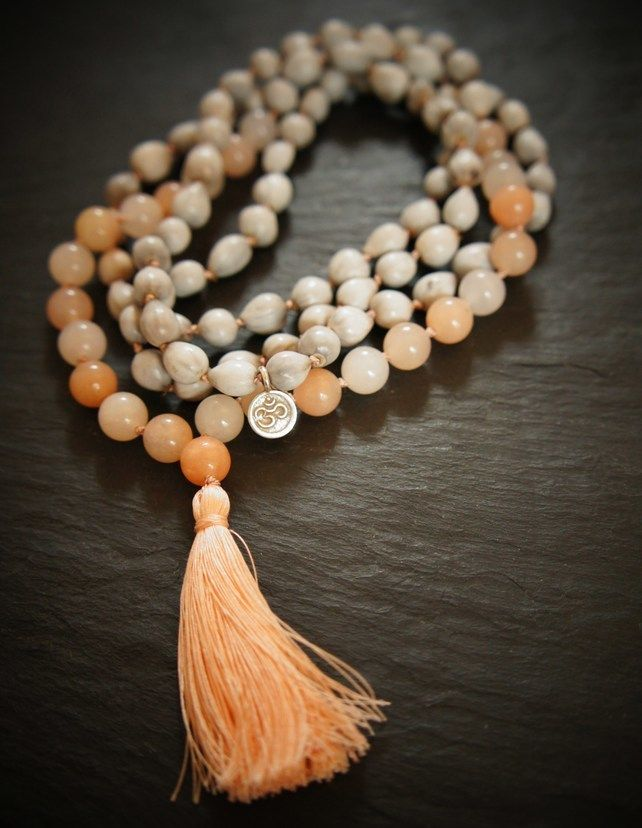 108 Heart Chakra Mala, Pink Aventurine, Silver and Vaijayanti Yoga Necklace £46.00