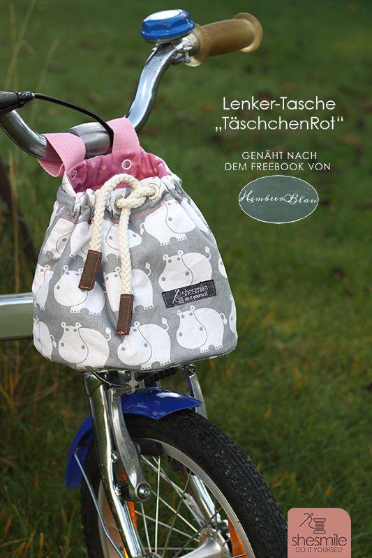 """Probenähen: Lenkertasche """"TäschchenRot"""" (Ein Freebook von HimbeerBlau) - shesmile, Do it Yourself"""